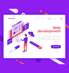 web development teamwork people and interact vector image