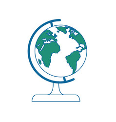 world globe isolated vector image