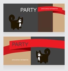 0615 6 black cat v vector