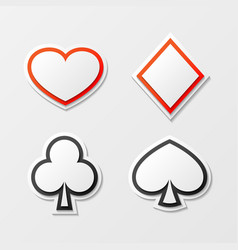 cards suit set vector image