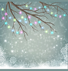 christmas light bulbs vector image vector image