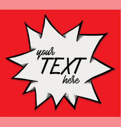 text explode drawing style vector image