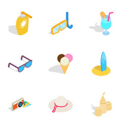 travel and tourism icons isometric 3d style vector image vector image