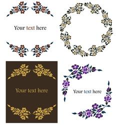 decorative floral frames set vector image vector image