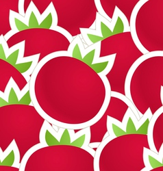 Fresh red tomatoes seamless background vector image