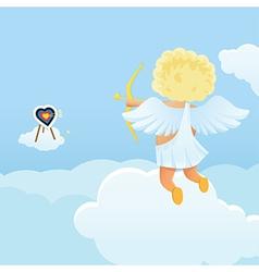 Funny cupid s shooting range vector image
