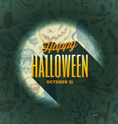 Halloween type design on a hand drawn background1 vector image vector image
