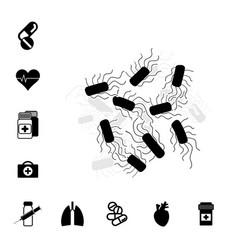 bacteria or bacilli icon vector image