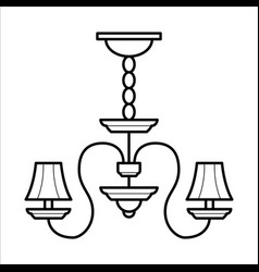 ceiling lamp in outline style vector image