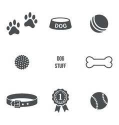 Dog stuff set vector image
