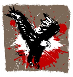eagle grunge design vector image vector image