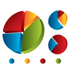 set of graphic chart vector image