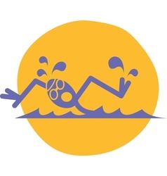 Swimmer logo vector image vector image