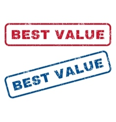 Best Value Rubber Stamps vector image vector image