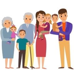 Big Family portrait vector image