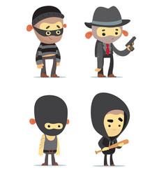 criminals vector image vector image