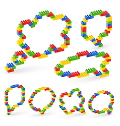 lego bubble vector image vector image