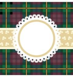 tartan frame vector image