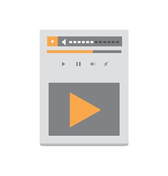 Video Player v4 vector image vector image