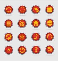 Web and creative metal cirlcle symbols vector image