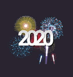 2020 new year celebration template vector image