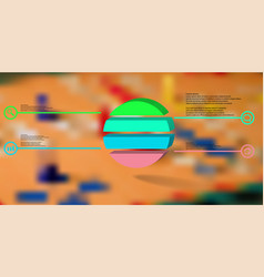 3d infographic template with embossed ring vector