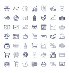 49 market icons vector
