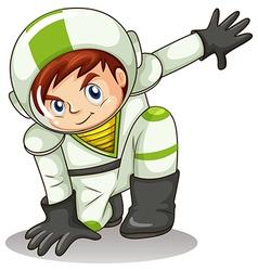 A young male explorer vector