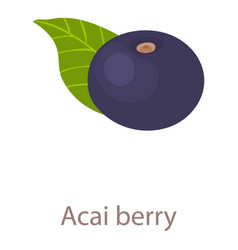 acai berry icon isometric 3d style vector image
