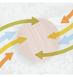 arrow -2 education vector image