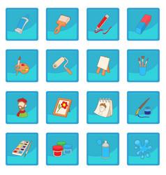 Art icon blue app vector
