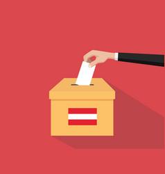 austria election vote concept with vector image vector image