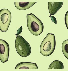 avocado seamless background vector image