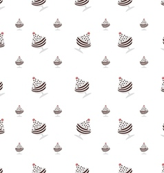 Background for chocolate ice cream in cup vector