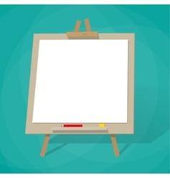 Blank presentation board vector image