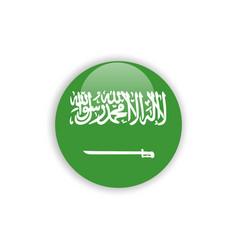 Button saudi arabia flag template design vector