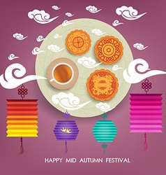 Chinese mid autumn festival background with vector