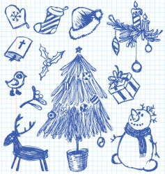 Christmas doodles vector