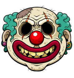 Clown zombie vector