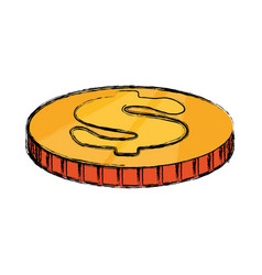 Coins pilled up vector