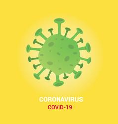 Coronavirus covid-19 poster single isolated with vector