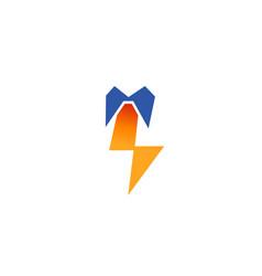 creative tie shirt thunder logo vector image