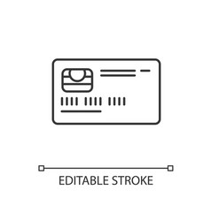 Credit card front linear icon vector