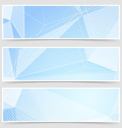 Crystal header collection templates set design vector