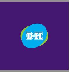 D h joint letter logo element design vector