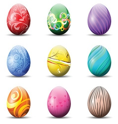 Decorative Easter eggs vector image