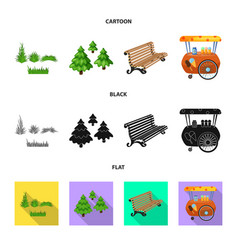 design of urban and street logo collection vector image