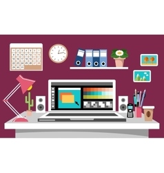 Design workplace vector image