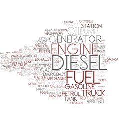 diesel word cloud concept vector image