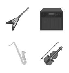 Electric guitar loudspeaker saxophone violin vector